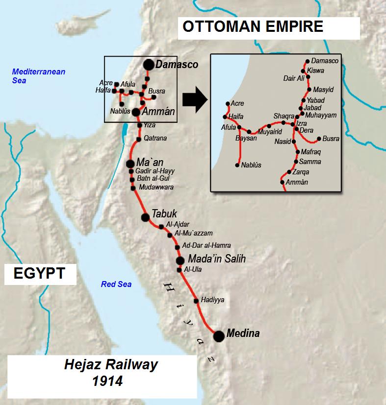 Mada In Saleh Arab Revolt Map Ottoman Empire