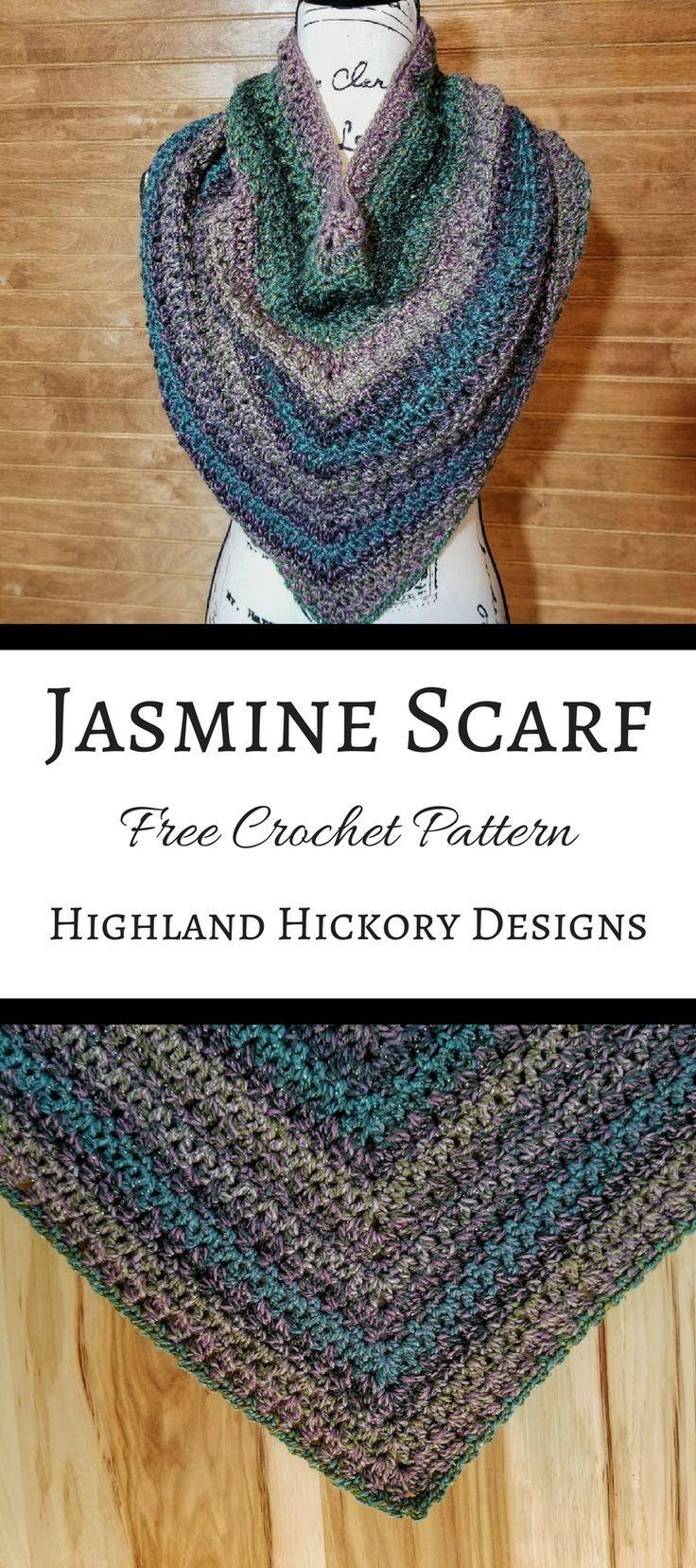 Jasmine Scarf | Pinterest | Strickmuster anleitung, Stricken häkeln ...