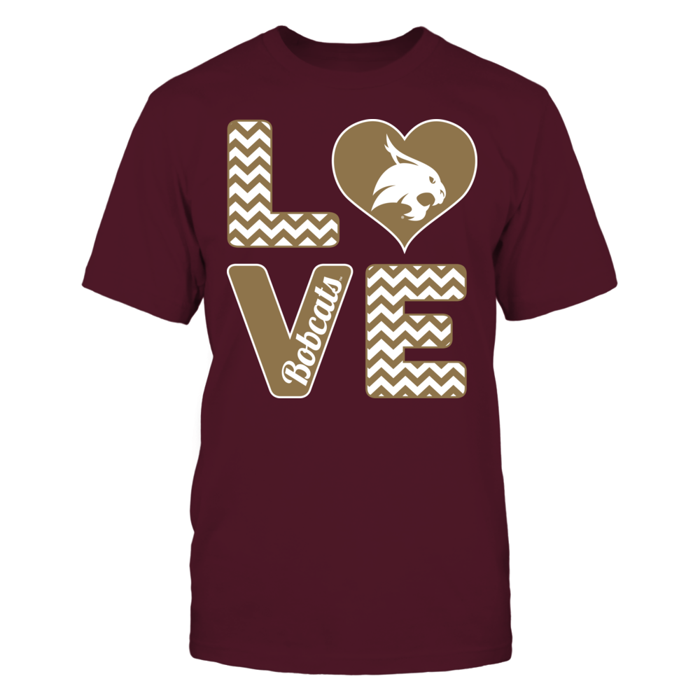 Stacked Love Texas State Bobcats Texas State Bobcats Printed Shirts Sports Shirts