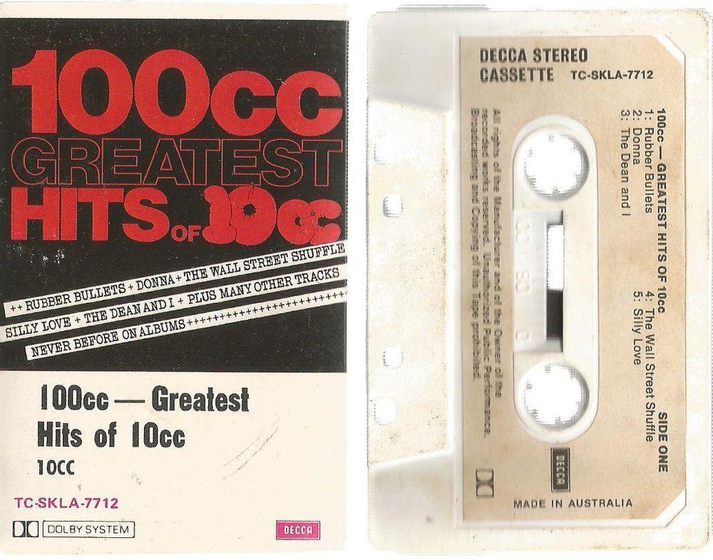 100cc Greatest Hits Of 10cc Audio Cassette Tape 1979 Audio Cassette Tapes Cassette Cassette Tapes
