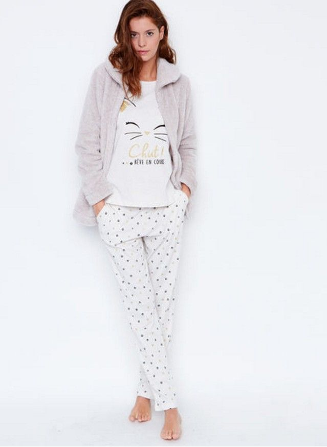 285820260d51f Pyjama chat Etam | Styles en 2019 | Pyjama, Etam et Pyjama 3 pieces