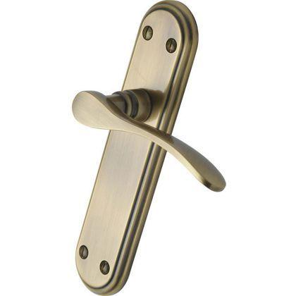 Venezia Long Latch Door Handles - Antique Brass - 1 Pair at Homebase -- Be  sc 1 st  Pinterest & Venezia Long Latch Door Handles - Antique Brass - 1 Pair at ... pezcame.com