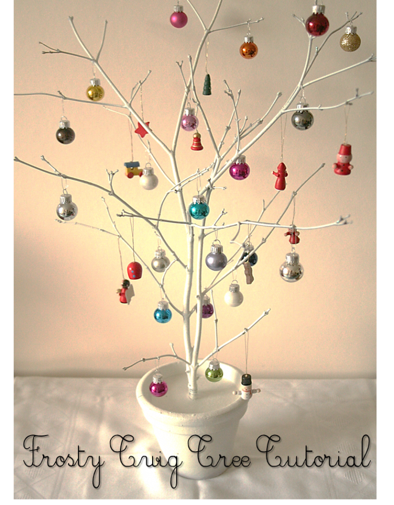 D.I.Y Twig Tree   Tabletop decoration with bird houses and cages