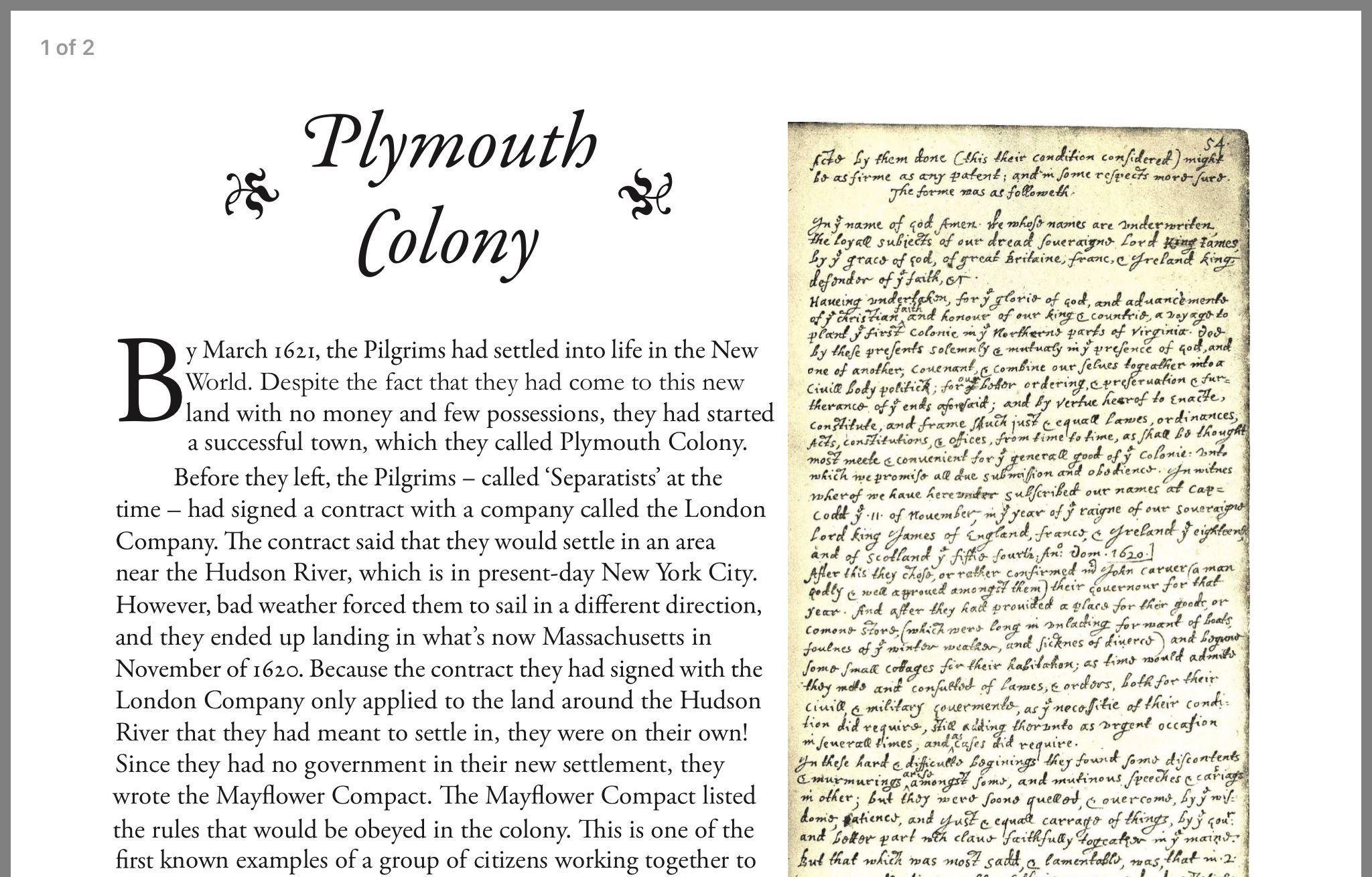 Plymouth Colony By Michele Isennock On Homeschool