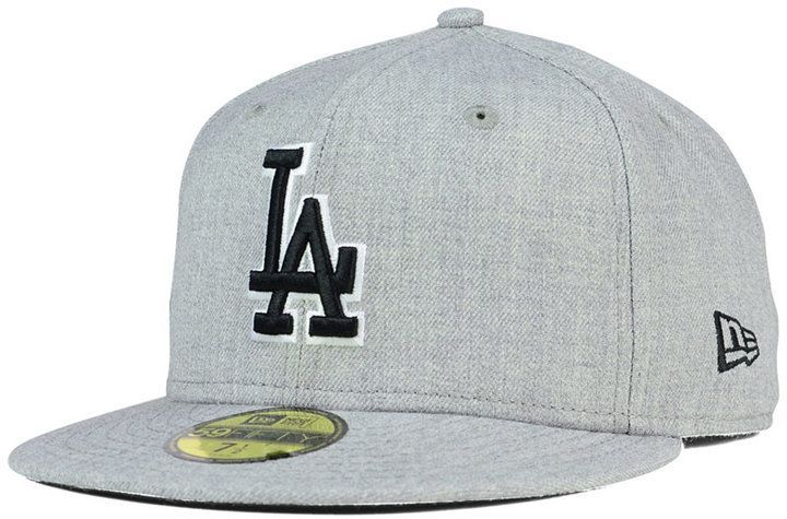 meet cd150 4564c New Era Los Angeles Dodgers Heather Black White 59FIFTY Fitted Cap