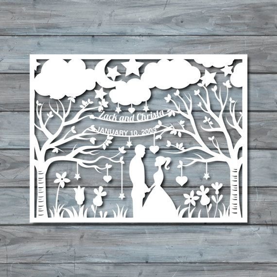 Wedding Paper Cut Template Paper cut Templates PDF | Cricut ...