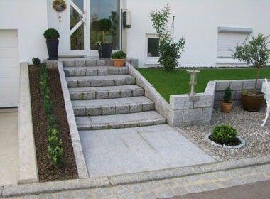 vorgarten treppe garten pinterest treppe hauseingang und g rten. Black Bedroom Furniture Sets. Home Design Ideas