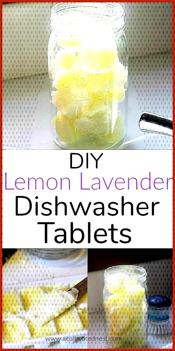 Homemade Lemon Lavender Dishwasher Tablets DIY Lemon Lavender Dishwasher Tablets Making these homem
