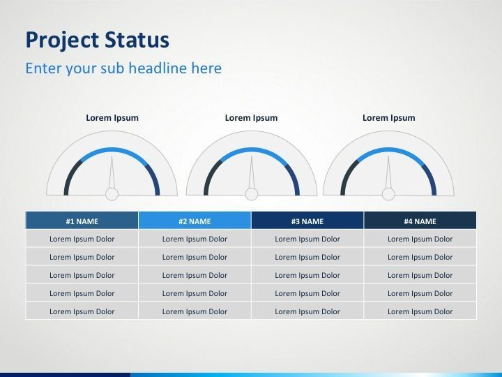 project status powerpoint template powerpoint templates
