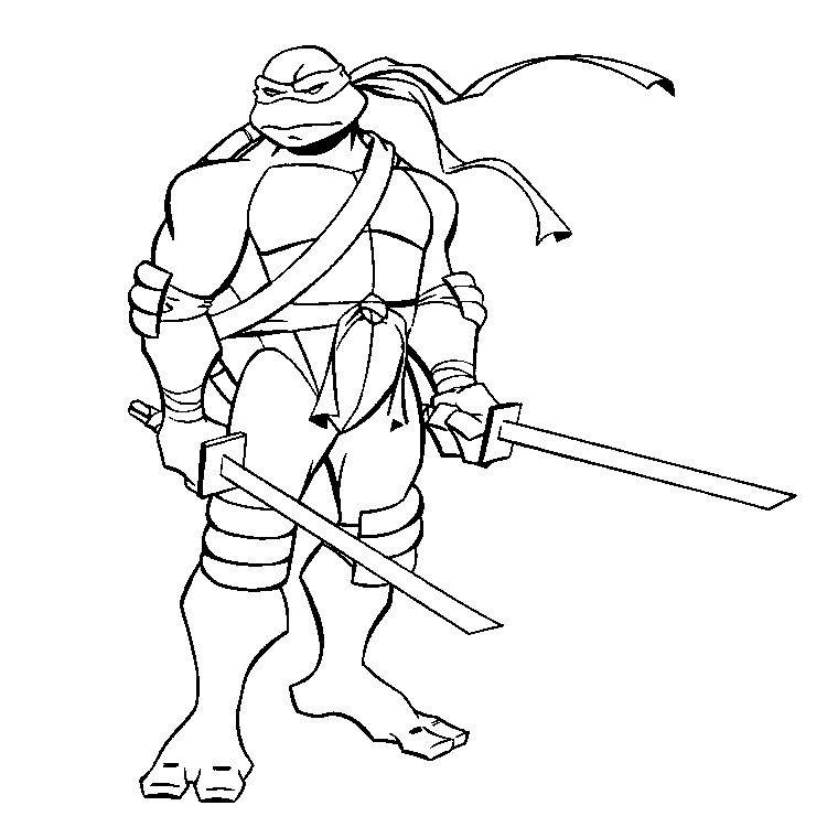 coloriage tortue ninja tortueninja (2020) Ninja turtle