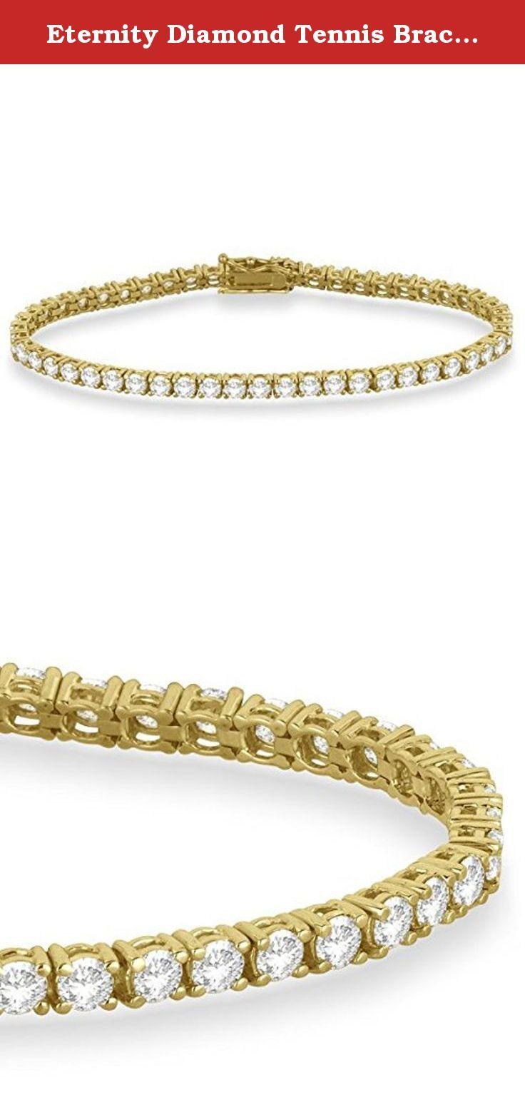 Eternity diamond tennis bracelet k yellow gold ct this
