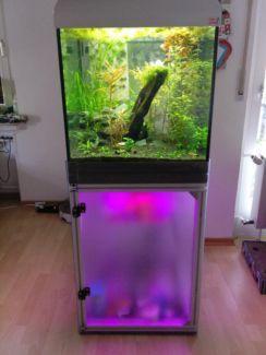 60 cm w rfel aquarium bleuchteter led unterschrank 216 liter in nordrhein westfalen. Black Bedroom Furniture Sets. Home Design Ideas