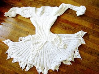 Violet's Silver Lining: Free Knitting Pattern: Snow White Ice Princess Lace Dress