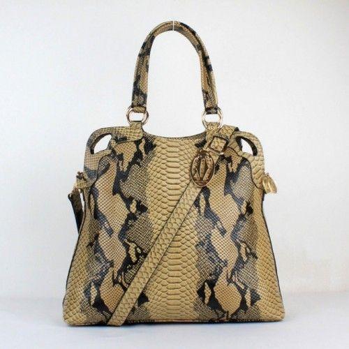 324509e936f Cartier Camel Snakeskin Grain Luxury Handbag
