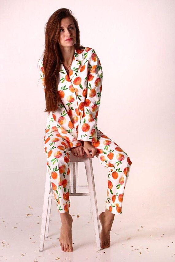 7b112db3e0 Peach Cotton Pajama Set