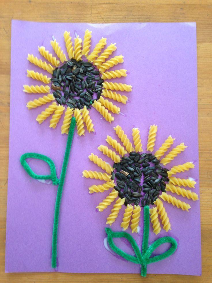 Sunflower seed and rotini sunflowers