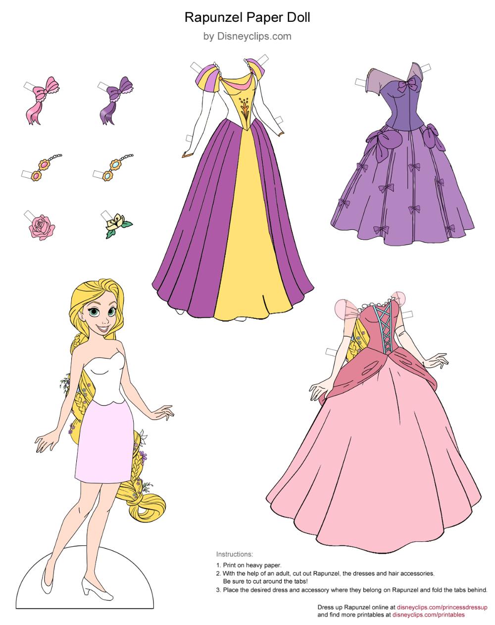 Planner Sticker Set Rapunzel 6-SHEET Format