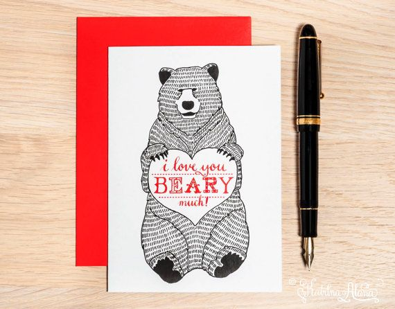 I Love You BEARY Much by Katrina Alana on Etsy