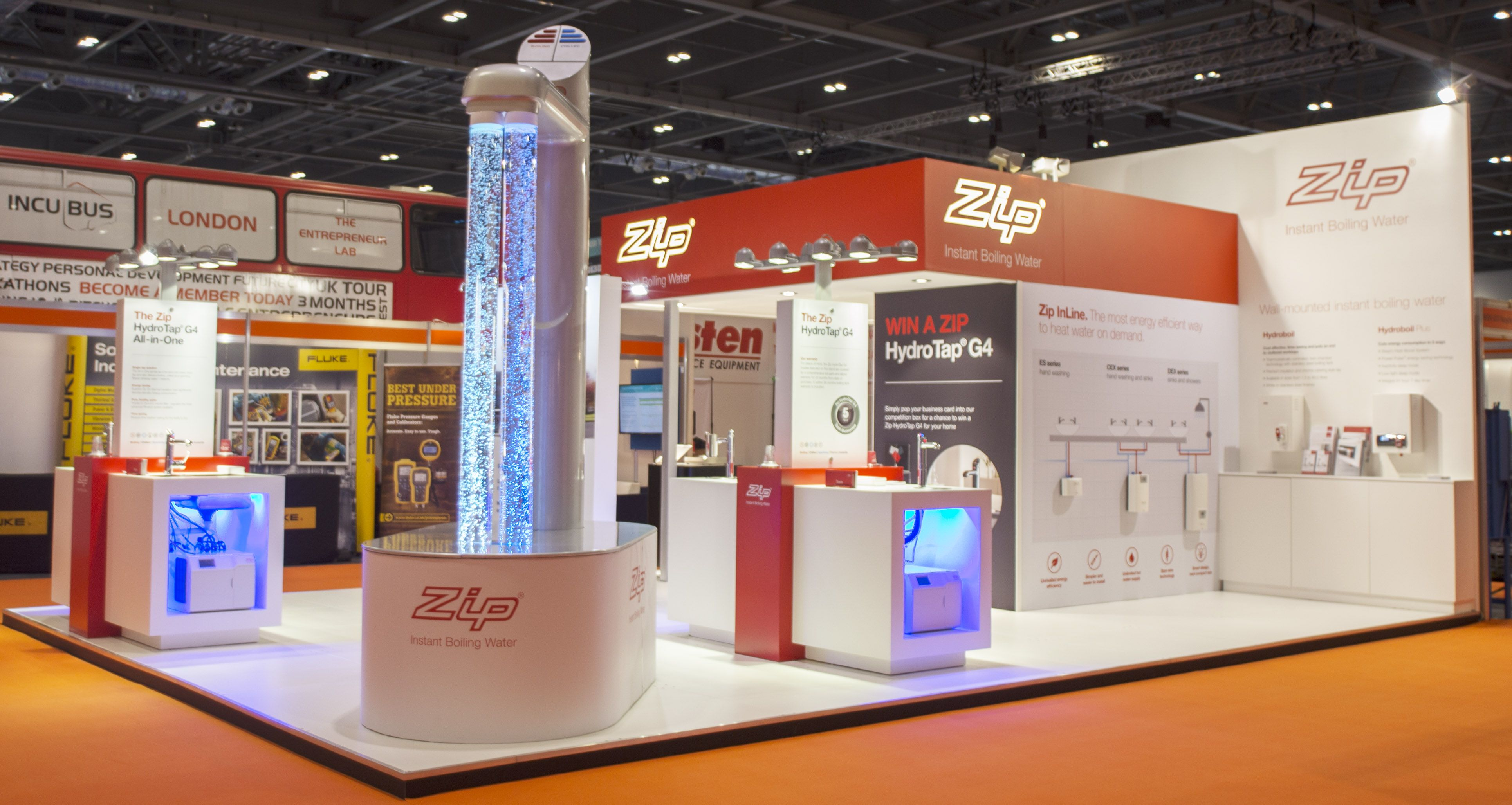 Envisage Exhibition Stand Design And Build Uk : Exhibition design at facilities show: zip heaters #exhibition #stand