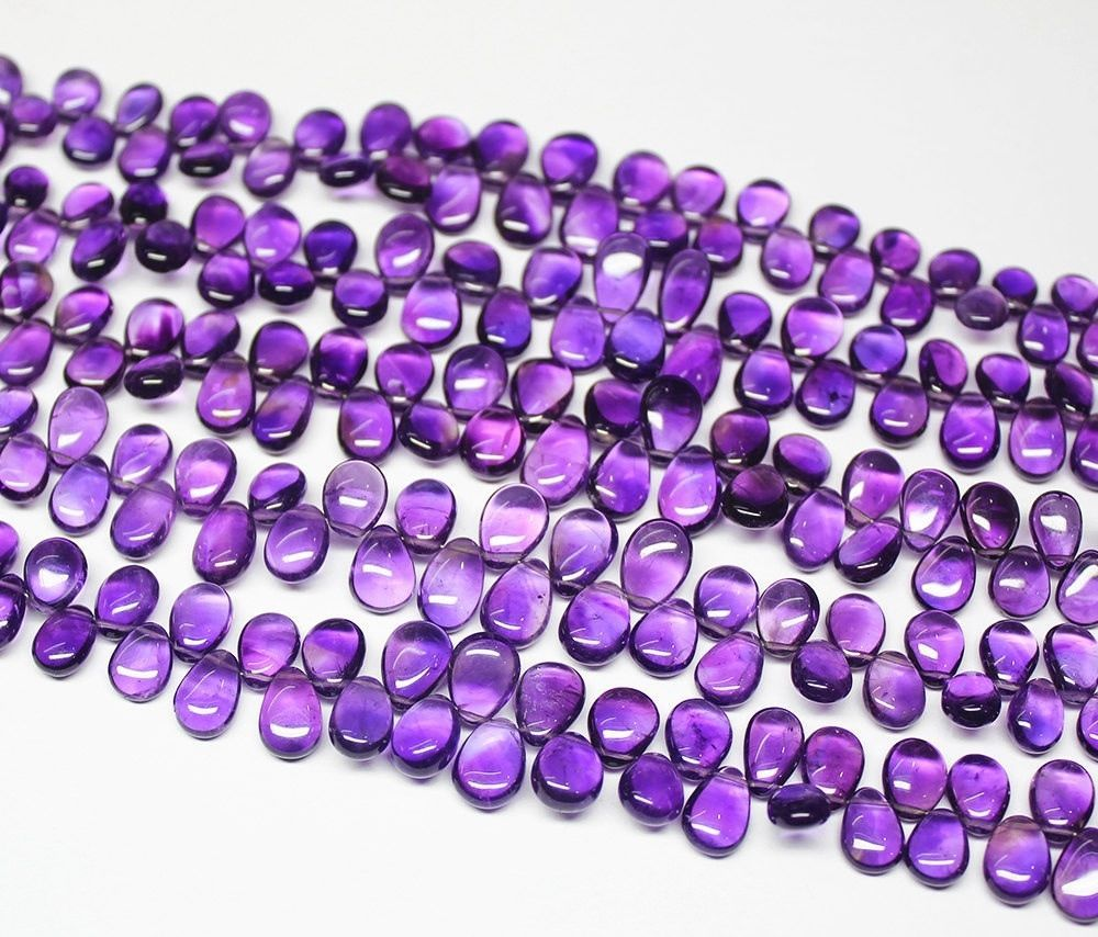 Natural Pink Chalcedony Faceted Pear Drop Beads 12.5mm 14mm 8.5inches Thanksgiving Sale