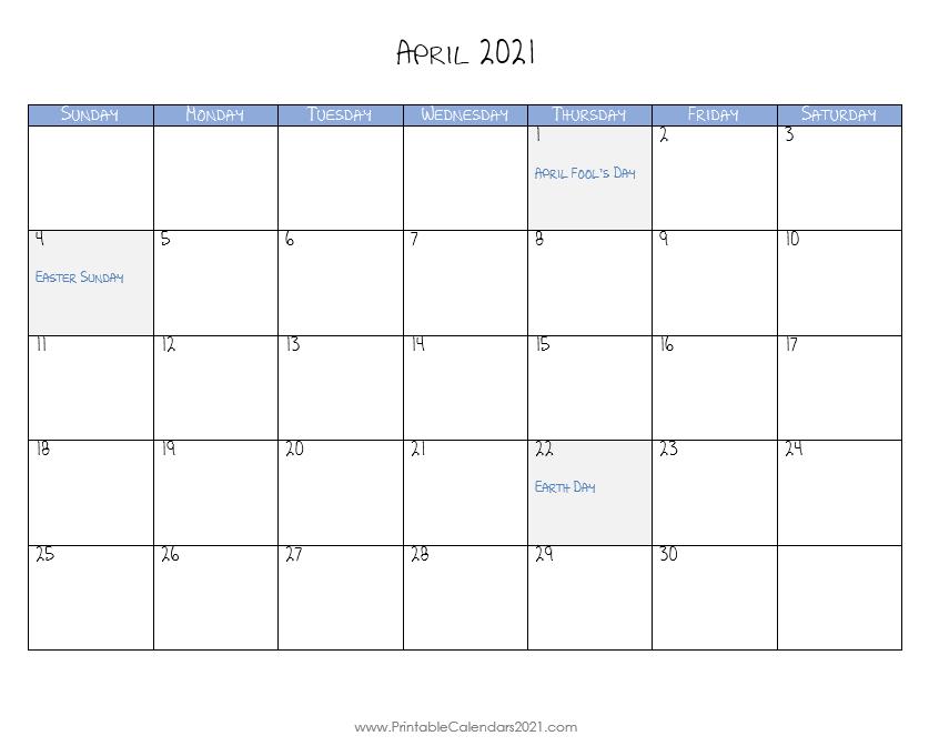 Printable Calendar 2021 April Calendar Printables Printable Calendar Calendar