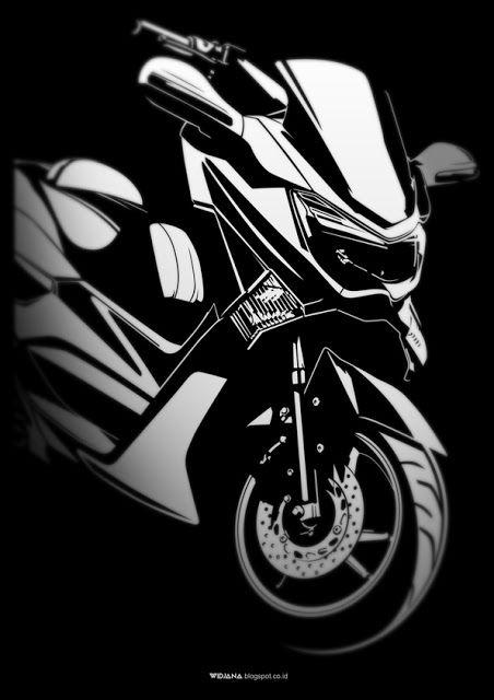 Yamaha Nmax Png : yamaha, WIDJANA:, Motorcycle, Painting,, Yamaha