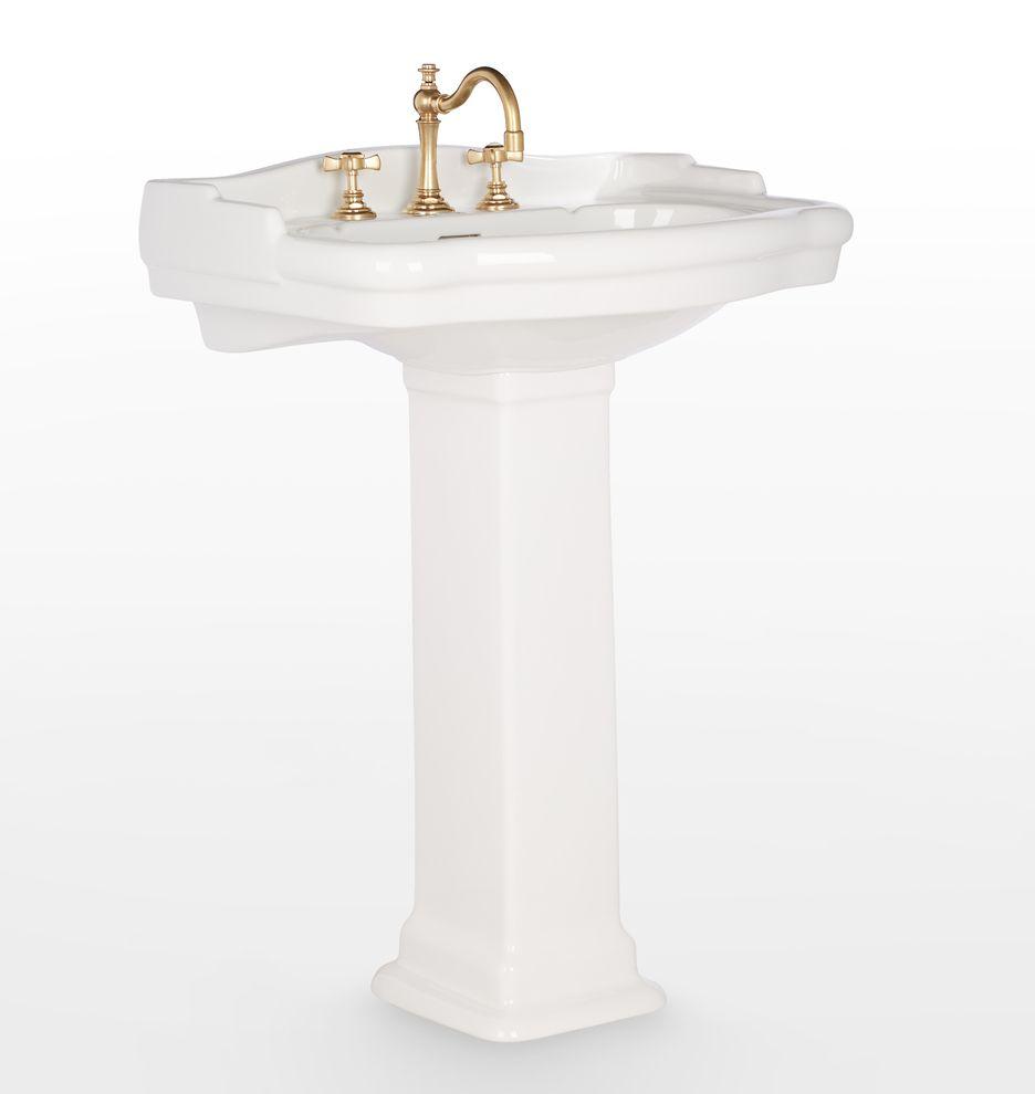 Rowland Pedestal Sink Pedestal Sink Modern White Bathroom Sink