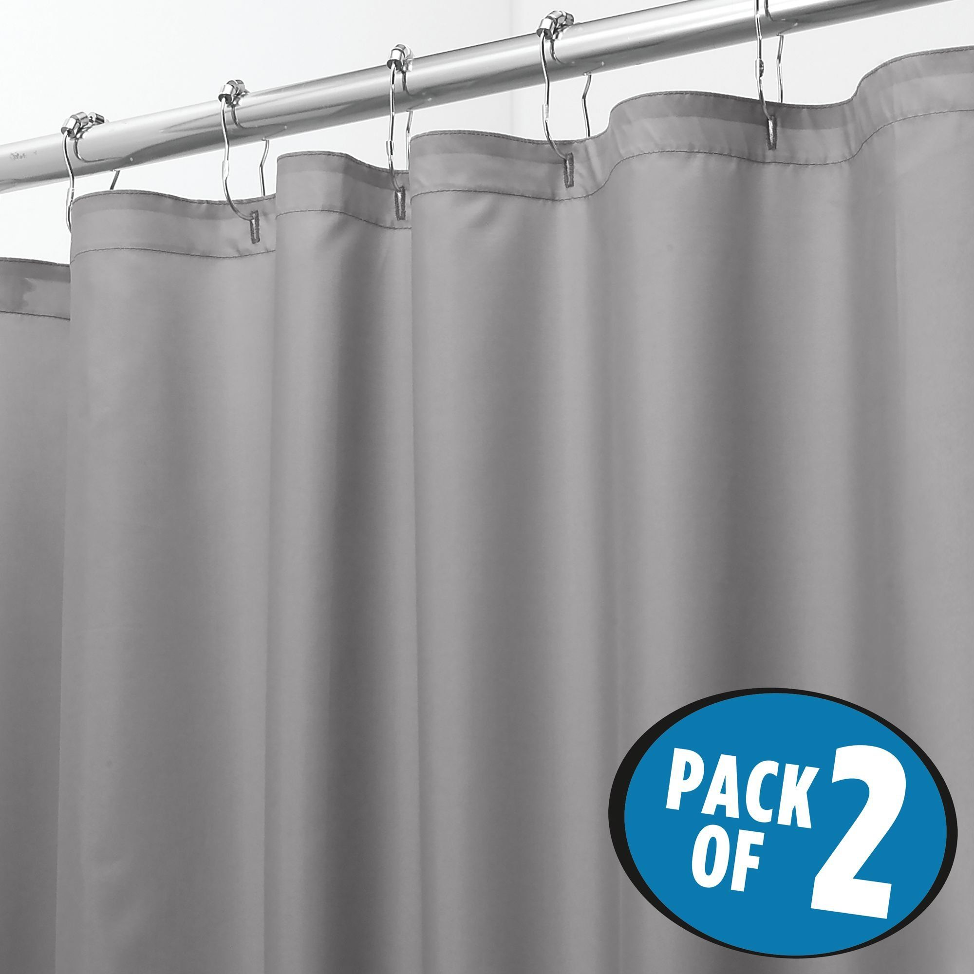 MDesign Extra Wide Quick Dry Shower Curtain Or Liner 108 X 72