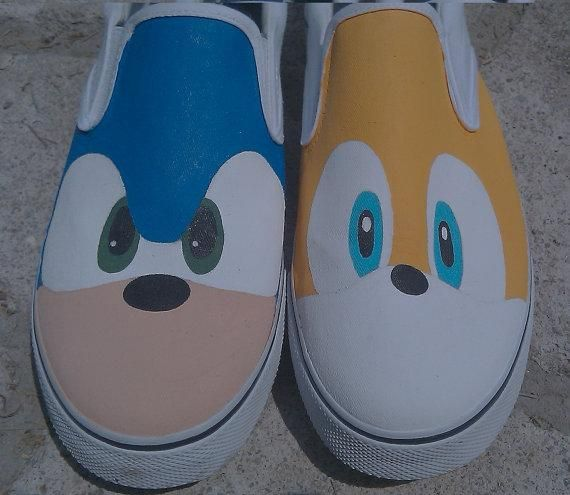 I found 'Sonic and Tails Vans Shoes' on