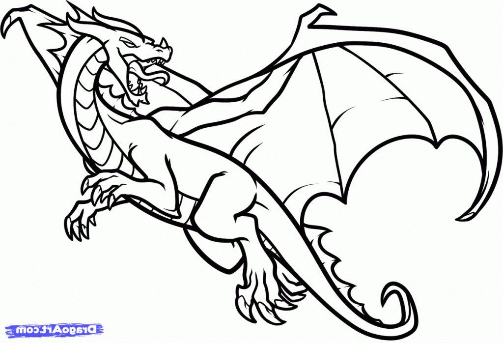 Magnífico Bebé Dragón Sombreado Para Colorear Molde - Dibujos Para ...
