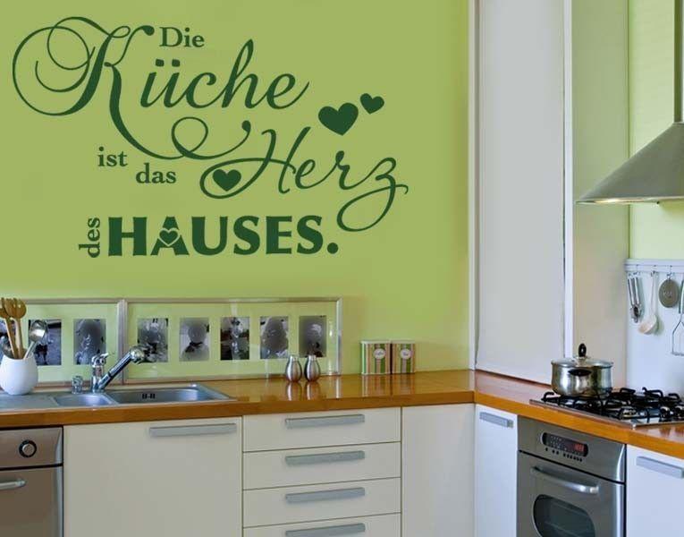 *Grün in Grün*  Wandtattoo Die Küche