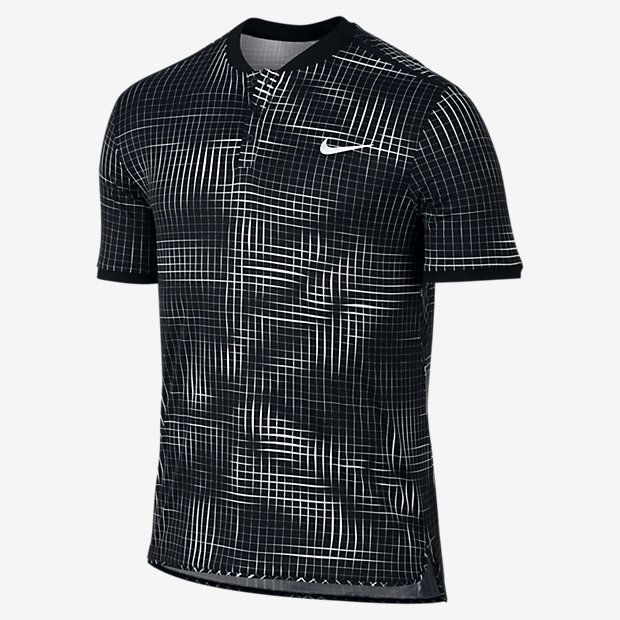 Nikecourt Advantage Men S Graphic Tennis Polo Shirt Nike Black Weiss Schwarz White Tennis Fashion Men Te Polo Shirt Design Tennis Clothes Tennis Shirts
