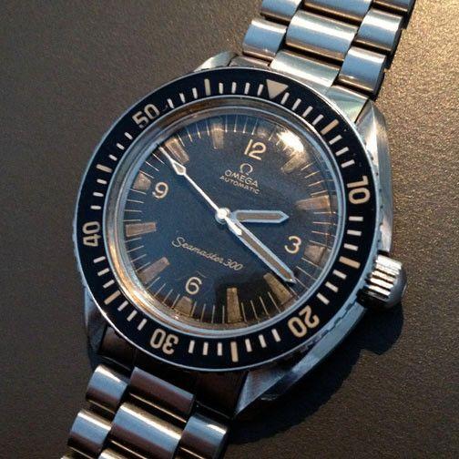 Omega 1960 39 s vintage speedmaster 300 military style diver - Omega dive watch ...
