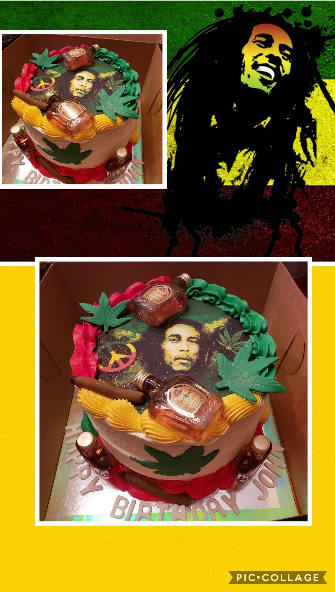 Terrific Bob Marley Theme Birthday Cake Customized For The Birthday Person Personalised Birthday Cards Veneteletsinfo