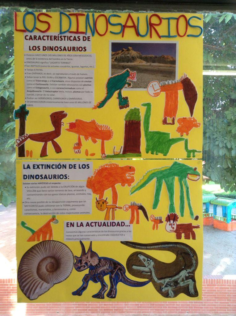 Proyecto Los Dinosaurios Mural Didáctico Alumnos De 4 Años Colegio Nuestra Señora Santa María Madrid España Dinosaurios Para Niños Proyectos Mural