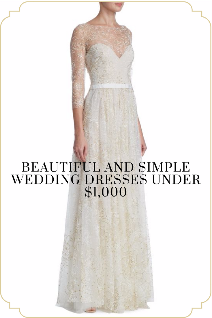 $1000 wedding dress  Lovely wedding dresses under  Perfect for the bride on a