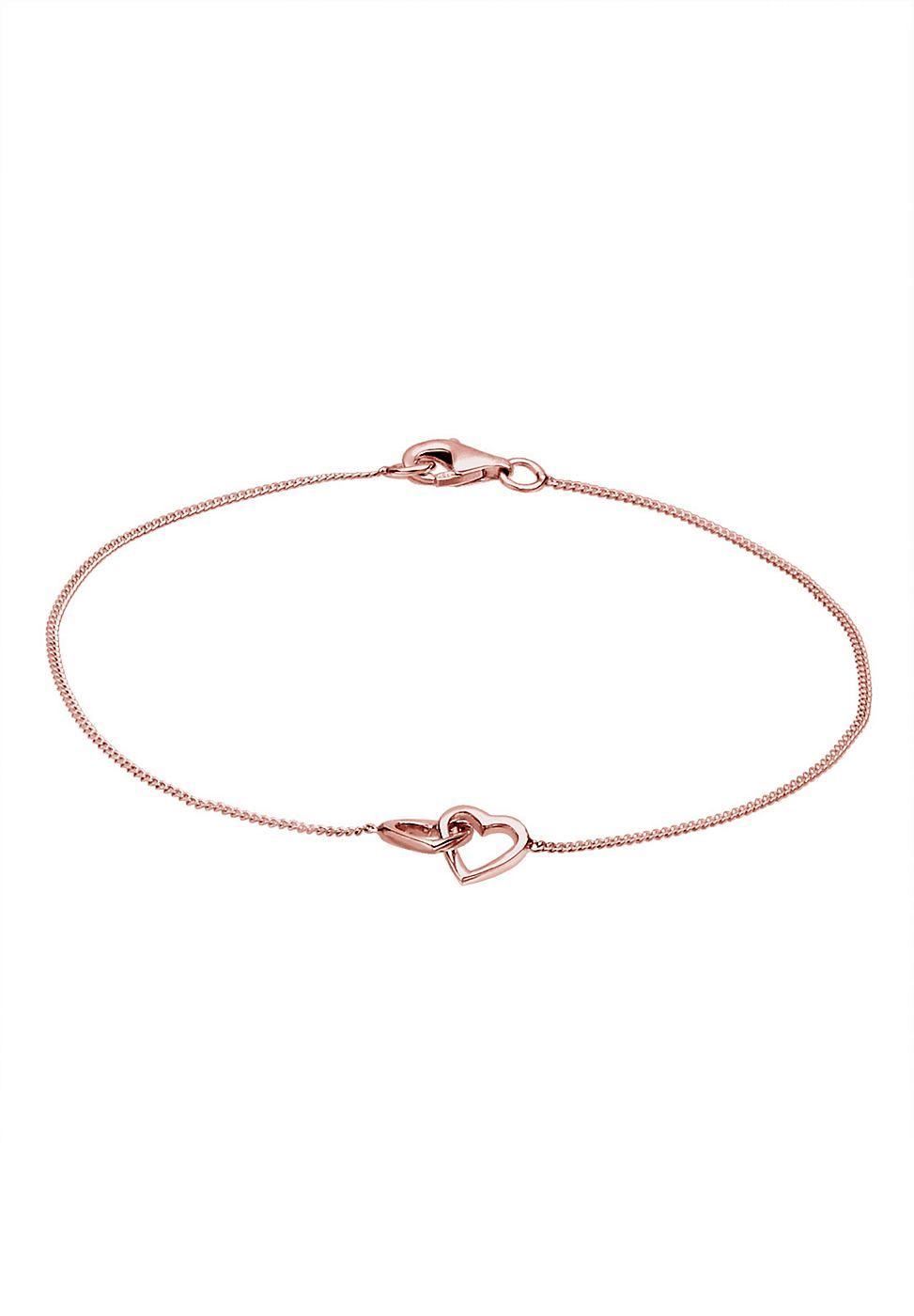 Elli Armband Herz Silber Textilband Pinterest Liebesbeweis