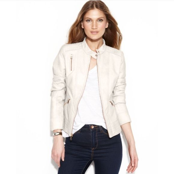 Guess leather jacket online