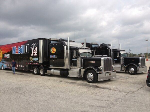 Stewart-Haas Racing haulers in Daytona for Speedweeks. Spring is coming! #NASCAR #TonyStewart