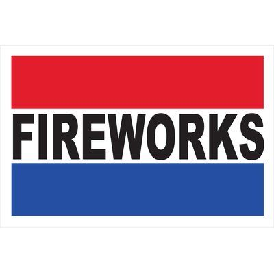 Neoplex Fireworks Banner Size 30 H X 72 W Neoplex Wet Floor Signs Clear Plastic Sheets