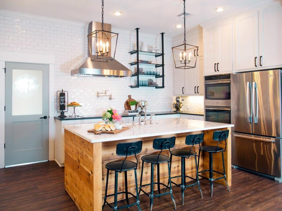 9 decorating ideas to steal from joanna gaines eclectic kitchen joanna gaines kitchen island on farmhouse kitchen joanna gaines design id=87750