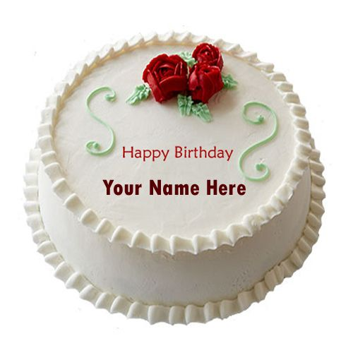 Tremendous Write Name On Happy Birthday Decorated Cake Online Best Wishes For Personalised Birthday Cards Fashionlily Jamesorg