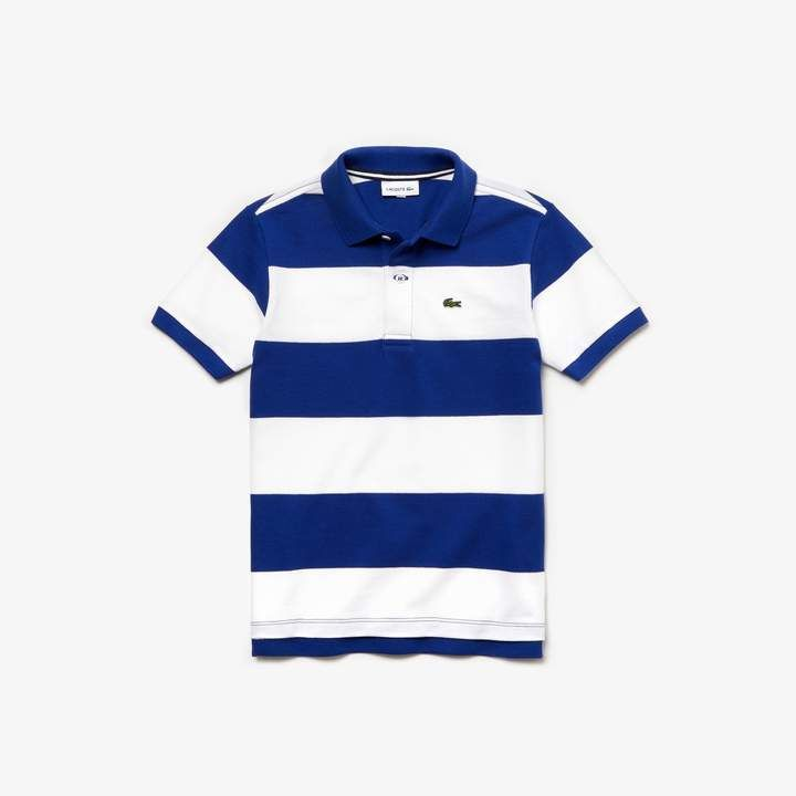 a904dced28 Boys' Striped Cotton Petit Piqué Polo Shirt in 2019 | Products ...