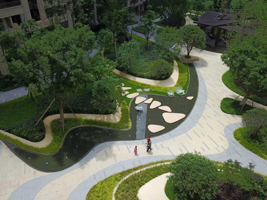 成都龙湖 九里晴川 Longfor Jasper Sky Wisto纬图设计机构 Mooool Landscape Architecture Design Landscape Design Urban Landscape Design