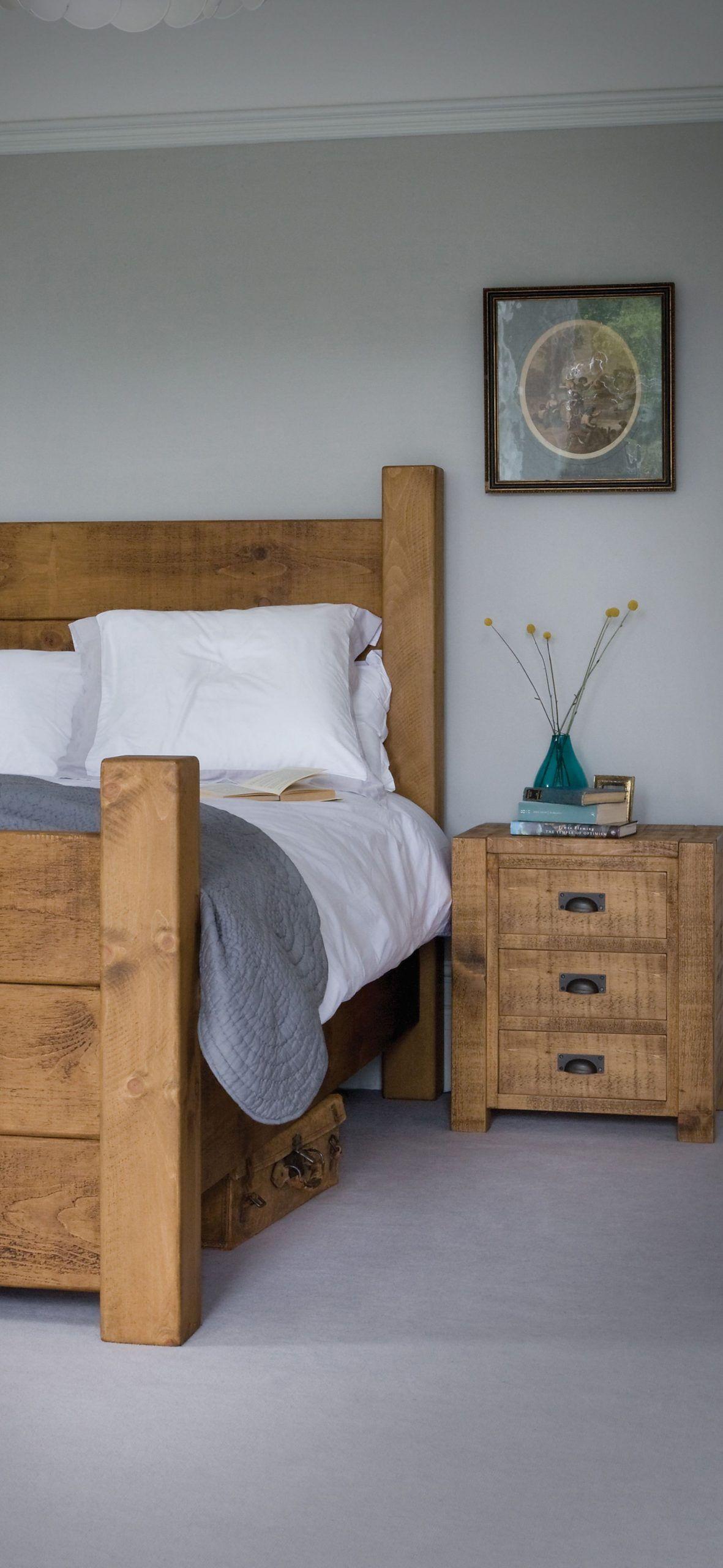 Chunky Wooden Bedroom Wooden bedroom, Indigo furniture