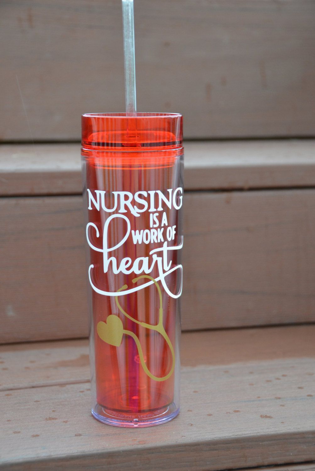 29113e7f193 Nursing is a Work of Heart – Nurses Are All Heart – Personalized Travel  Tumbler - Personalized Nurse Tumbler - Medical Staff Gift - Nurses by ...