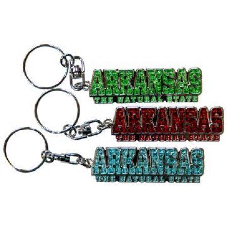 Jenkins Arkansas Keychain- Shanghi Diamond Letter (pack Of 48)