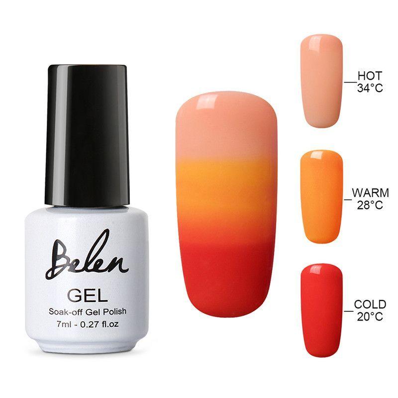 Belen Thermal Nail Polish Temperature Color Changing Nail Polish ...