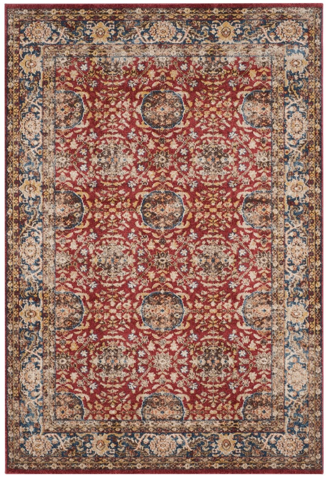 Broomhedge Oriental Red Area Rug Area Rugs Rugs Classic Rugs