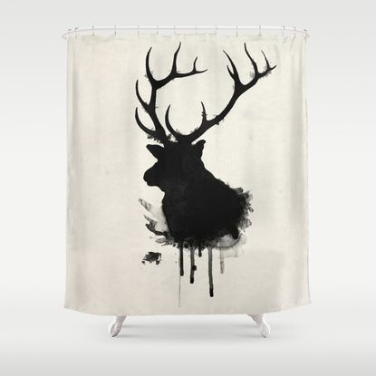 Elk Deer Shower Curtain Deer Shower Curtain Shower Curtain Elk